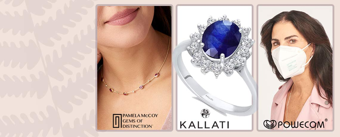 Today's Top Values & Deals - 200-231 Gems of Distinction™ 14K Gold Choice of Burmese Ruby or Blue Sapphire Diamond Station Necklace, 198-424 KALLATI 14K White Gold Heirloom 2.29ctw Sapphire & Diamond Ring - Size 7, 003-046 Powecom Breathable Authenticated KN95 5-Layer Protective Face Masks for Personal Use