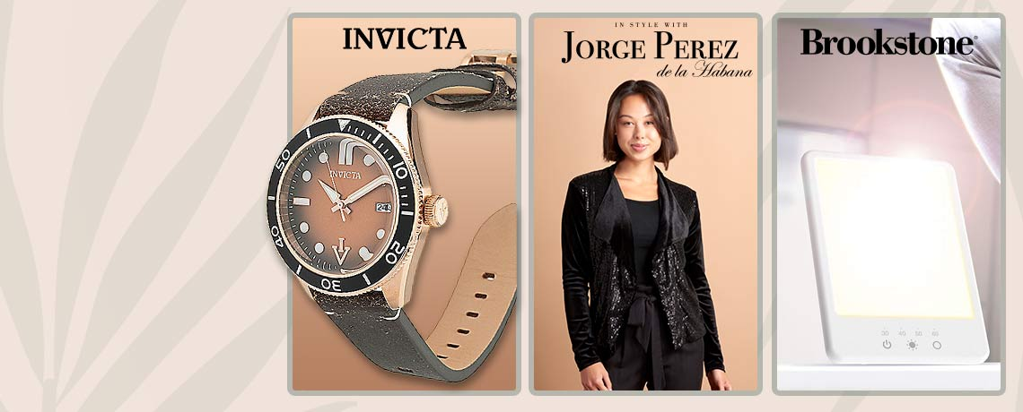 Today's Top Values & Deals  -  693-221 Invicta, 750-537 Jorge Perez, 003-652 Brookstone