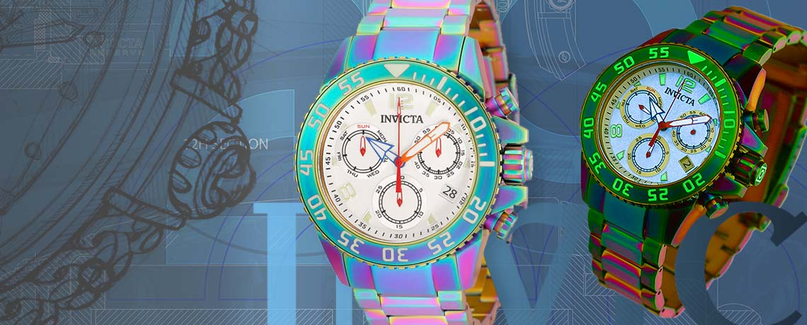 689-612 Invicta 44mm or 56mm Pro Diver Swiss Quartz Chronograph Bracelet Watch