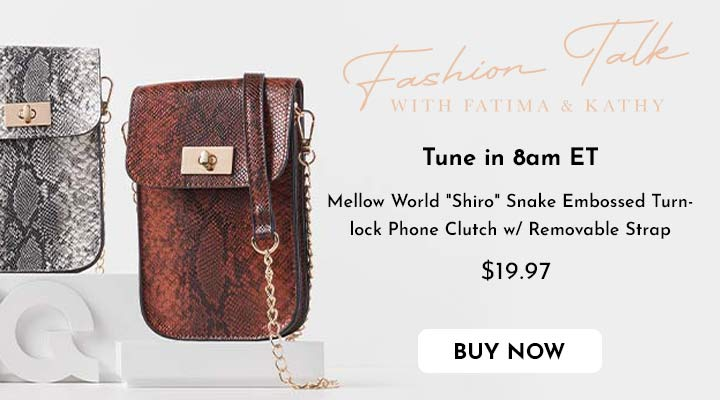 744-532 Mellow World Shiro Snake Embossed Turnlock Phone Clutch w Removable Strap
