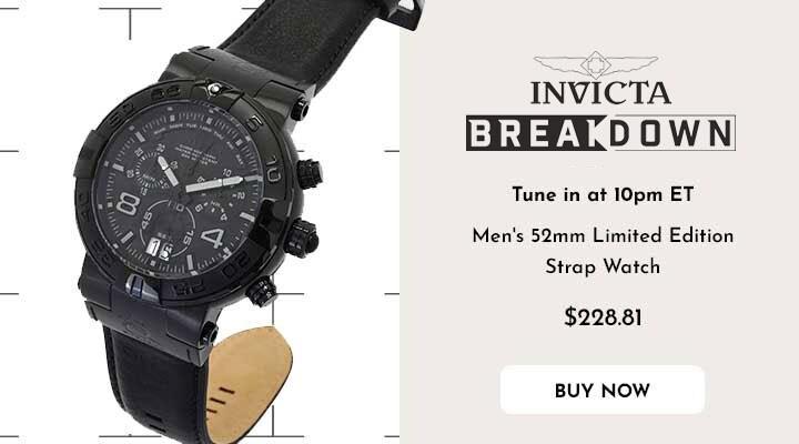 683-297 Invicta Men's 52mm Subaqua Noma I Elegant Limited Edition Swiss Quartz Chronograph Strap Watch
