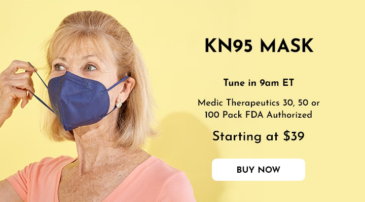 004-846 Medic Therapeutics 30, 50 or 100 Pack FDA Authorized KN95 Masks For Personal Use