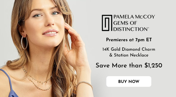 195-135 - Gems of Distinction™ 14K Gold 16 0.53ctw Diamond Charm & Station Necklace w 3 Extender