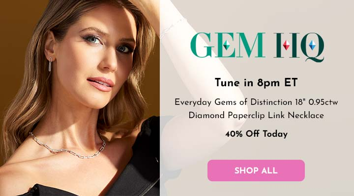 196-939 Everyday Gems of Distinction™ 18 0.95ctw Diamond Paperclip Link Necklace