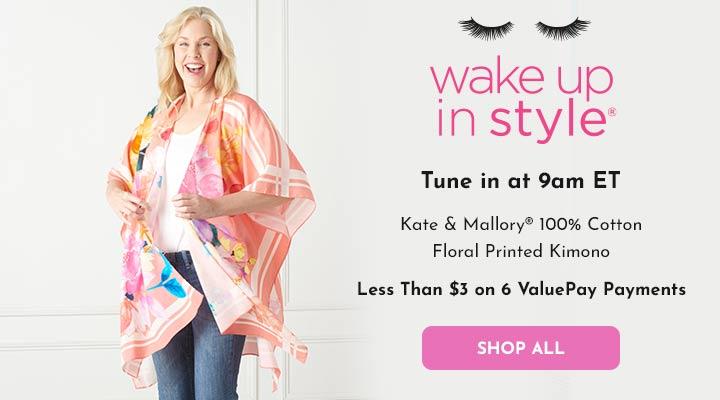 751-757 Kate & Mallory® 100% Cotton Floral Printed Kimono