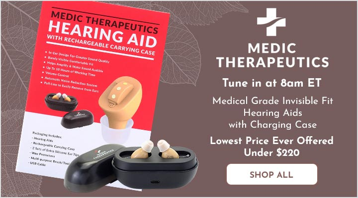 004-049 Medic Therapeutics Medical Grade Invisible Fit Hearing Aids w Charging Case