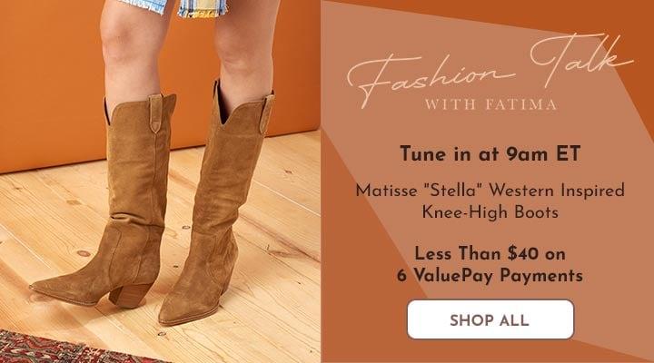 754-423 Matisse Stella Western Inspired Knee-High Boots