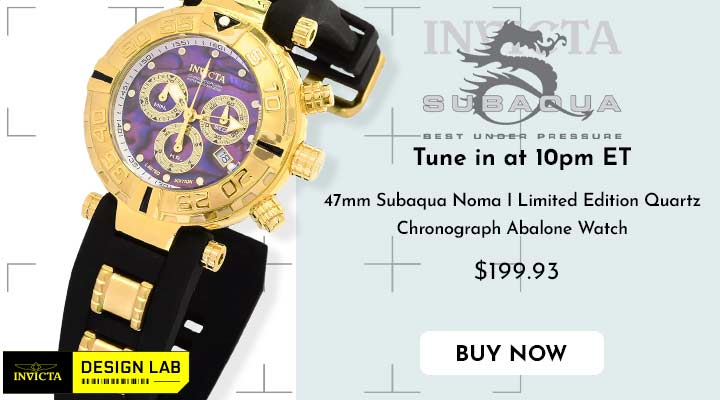 683-585 Invicta 38mm or 47mm Subaqua Noma I Limited Edition Quartz Chronograph Abalone Watch