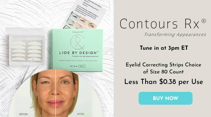 317-511 Contours Rx LIDS BY DESIGN Eyelid Correcting Strips Choice of Size 80 Count