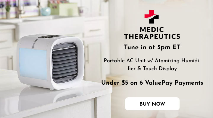 003-005 Medic Therapeutics Portable AC Unit w Atomizing Humidifier & Touch Display