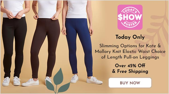 738-079 Slimming Options for Kate & Mallory® Knit Elastic Waist Choice of Length Pull-on Leggings