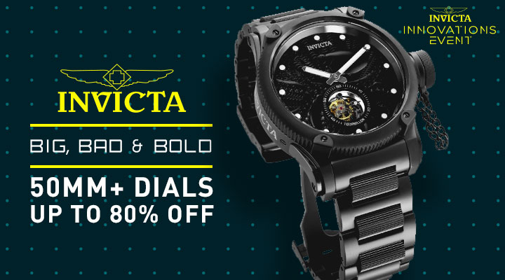 nvcita Big, Bad & Bold 50mm+ Dials Up To 80% Off 682-558 Invicta Men's 52mm Russian Diver Ltd Edition Offshore Octopus Mechanical Tourbillon Bracelet Watch