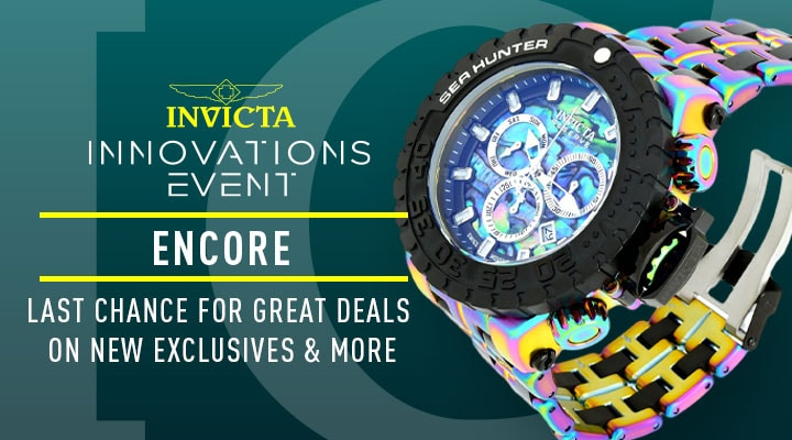 Invicta Innovations Event Encore Last Chance For Great Deals On New Exclusives & More- 683-566 Invicta Reserve Men's 58mm Sea Hunter Swiss Quartz Chronograph Abalone Bracelet Watch