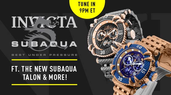 683-377 Invicta Men's 52mm Subaqua Talon Quartz Chronograph Stainless Steel Bracelet Watch