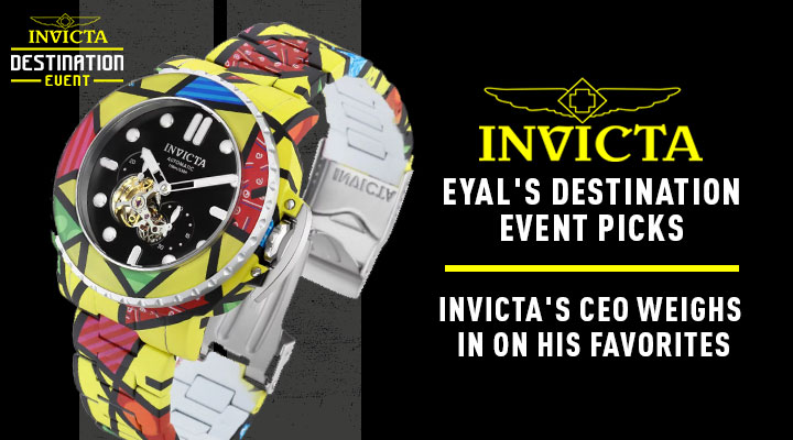 Eyal's Destination Event Picks Invicta's CEO Weighs In On His Favorites - 682-188 Invicta Britto 48mm Pro Diver Limited Edition Automatic Hydroplated Bracelet Watch