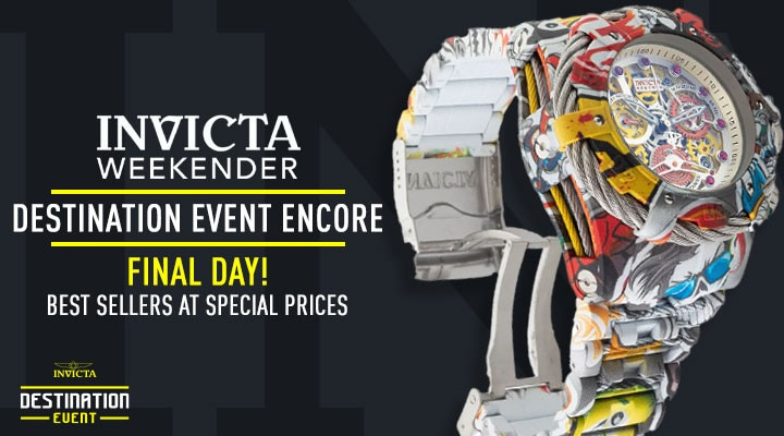 Invicta Weekender: Destination Event Encore Final Day! Best Sellers At Special Prices -  682-705 Invicta Men's 52mm Grand Bolt Zeus Graffiti Swiss Quartz Hydroplated Watch