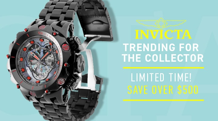 687-219 Invicta Reserve Men's 52mm Venom Hybrid Black Label Swiss Quartz Chronograph Bracelet Watch