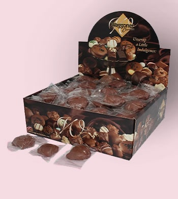 Web Exclusive Finds Items You Won't See On TV - 459-946 Waggoner Chocolates Premium (4 lbs) Milk Chocolate Covered Nut & Caramel Dainties