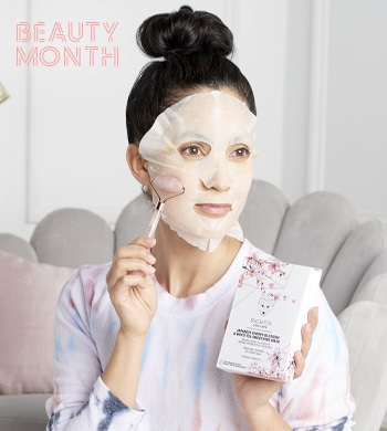 Snow Fox Skincare Tune In For The Premiere At 4PM ET - 317-493 Snow Fox Skincare Rose Quartz Facial Roller w Set of 5 Japanese Cherry Blossom Sheet Masks