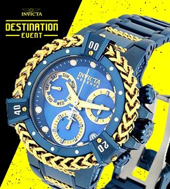 Save On Invicta Shop W Over 70% Off 683-599 Invicta Bolt Herc Reserve 43mm Blue Label Swiss Quartz Bracelet Watch w 6-Slot Watch Box