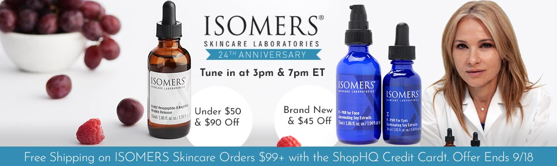317-607 ISOMERS Skincare Acetyl Hexapeptide-8 Amplified Wrinkle Releaser 1.86 oz,  320-823 ISOMERS Skincare R-Pur Age Defying 2-Piece Set