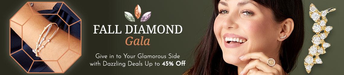 174-748 Sonia Bitton Galerie de Bijoux® 14K Gold 6.5 0.25ctw Diamond Flex Cuff Bracelet197-281 Beverly Hills Elegance® 14K Gold 0.48ctw Diamond Crawler Earrings,