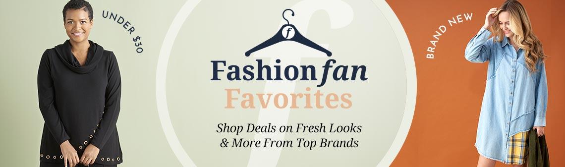750-742 Pamela McCoy Sweater Knit Long Sleeve Cowl Neck Embellished Wrap Hem Tunic,  759-924 Indigo Thread Co.™ 100% Cotton Chambray Knit Button Front Patchwork Tunic Dress