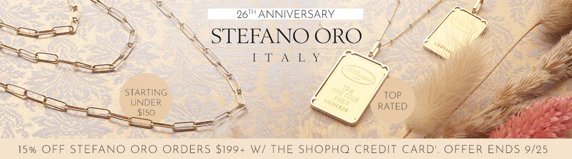 198-186 Stefano Oro Choice of 14K Gold & Length Semi-Solid Paperclip Link Necklace,  180-021 Stefano Oro 24K Gold Choice of Weight Ingot w 14K Gold Frame Pendant