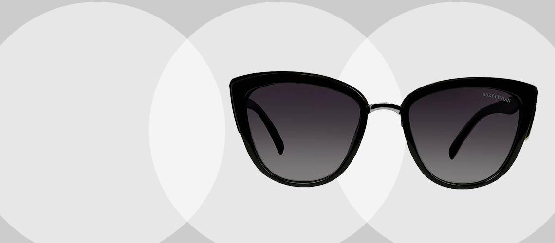 750-889 Suzy Levian Women's Cat Eye Frame Polarized Sunglasses
