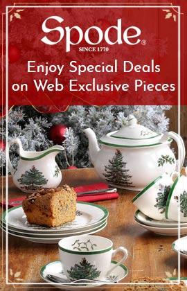 Spode - Enjoy Special Deals on Web Exclusive Pieces - 508-363 Spode Christmas Tree 3-Piece Sugar & Creamer Set