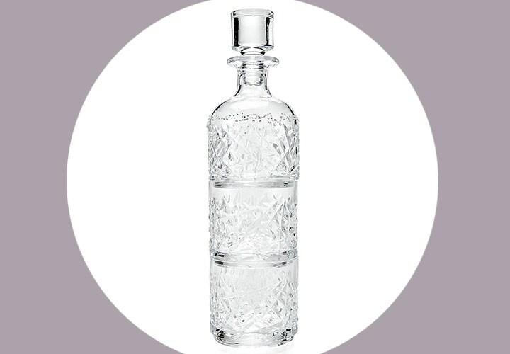Swarovski - 501-515 Swarovski Crystal Cut 12 x 3 Decanter & Stackable Glass 3-in-1 Set