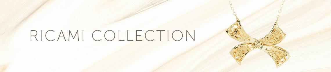 RICAMI COLLECTION - 194-020 Stefano Oro 14K Gold Fiori Ricami 18 Bow Necklace
