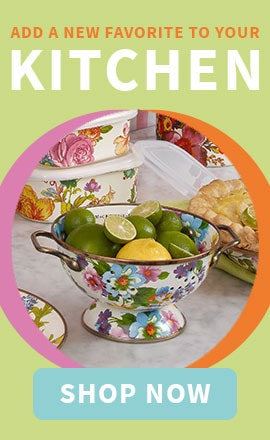 Add a New Favorite To Your Kitchen | 467-986 MacKenzie-Childs Hand-Decorated Enamelware Colander