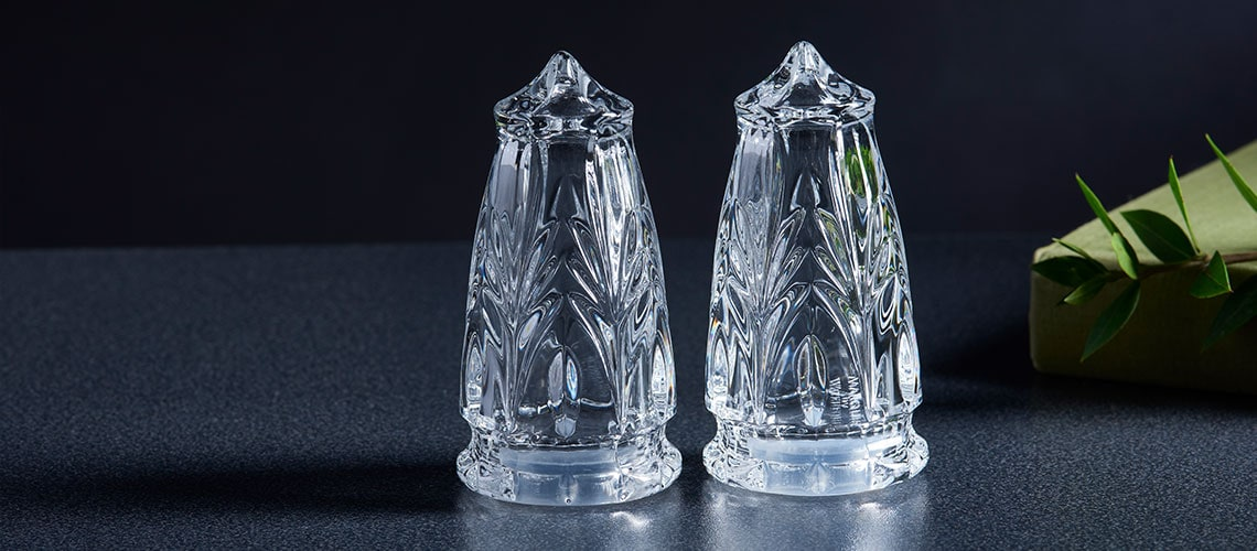 489-100 Marquis by Waterford 4 Canterbury Salt & Pepper Shakers