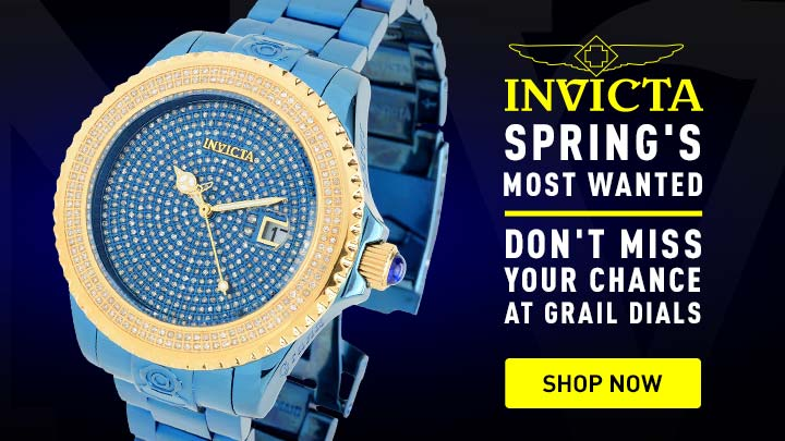 Invicta Spring's Most Wanted Don't Miss Your Chance At Grail Dials 679-140 Invicta 47mm Blue Label Grand Diver Automatic 2.67ctw Diamond Watch
