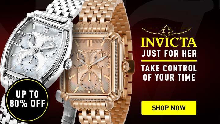 Invicta Just For Her Take Control Of Your Time 673-207 Invicta Women's Wildflower Quartz MOP Dial Bracelet Watch w Extra Strap