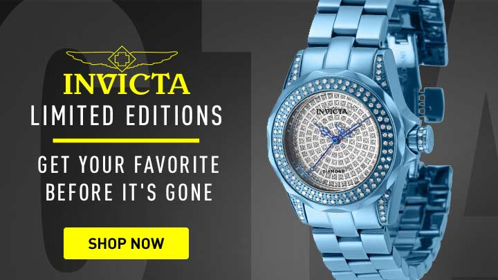 Invicta Limited Editions Get Your Favorite Before It's Gone - 682-229 Invicta Women's Pro Diver Mini 1.12ctw Diamonds & Ice Limited Edition Swiss Quartz Watch