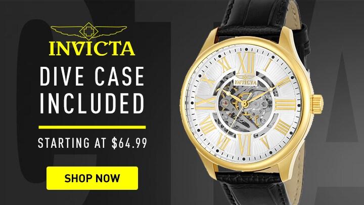 658-434 - Invicta 45mm Vintage Automatic Skeletonized Dial Strap Watch w 3-Slot Dive Case