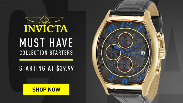 688-744 Invicta 43mm Tonneau Specialty Quartz Chronograph Date Watch w 3 Croco Embossed Leather Straps