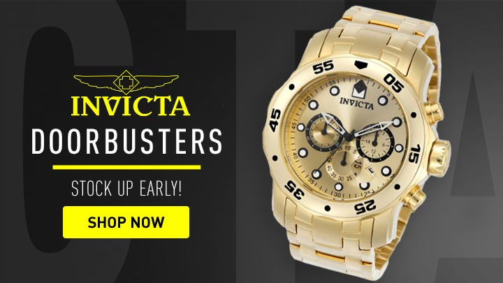653-050 Invicta Men's 48mm Pro Diver Quartz Chronograph Stainless Steel Bracelet Watch