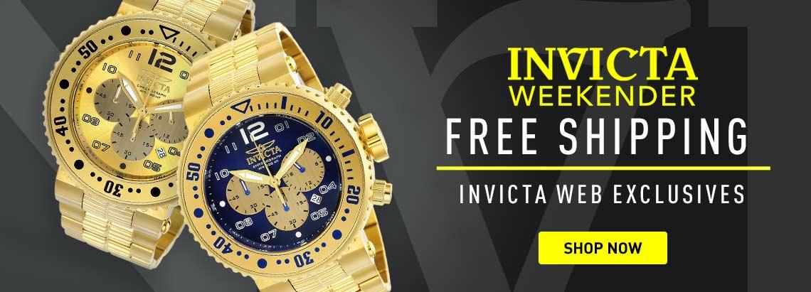 662-525 Invicta Men's 52mm Pro Diver Quartz Chronograph Date Gold-tone Stainless Steel Bracelet Watch -  668-064 Invicta Men's 52mm Pro Diver Quartz Chronograph Gold-tone Dial Stainless Steel Bracelet Watch