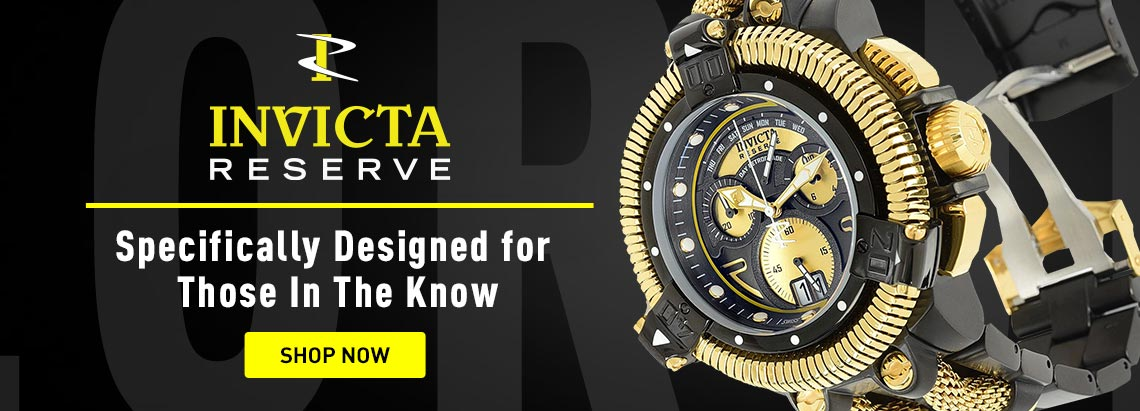687-215 Invicta Reserve Men's 50mm King Python Swiss Quartz Chronograph Watch w 18-Slot Briefcase Invicta Reserve Specifically Designed for Those In The Know