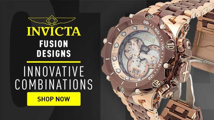 688-744 Invicta 43mm Tonneau Specialty Quartz Chronograph Date Watch w 3 Croco Embossed Leather Straps - 689-614 Invicta Reserve Men's 52mm Venom Fusion Shutter Swiss Quartz Chronograph Watch