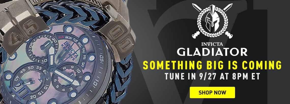 Something Big is Coming Tune in 927 at 8pm ET - 697-399 Invicta Reserve Gladiator Men's 60mm Spartacus Swiss Quartz Chronograph Bracelet Watch