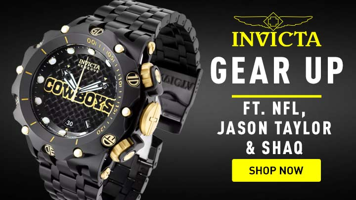 689-508 Invicta NFL Men's 52mm Venom Fusion Black Label Swiss Quartz Chronograph Watch w 1-Slot Dive Case