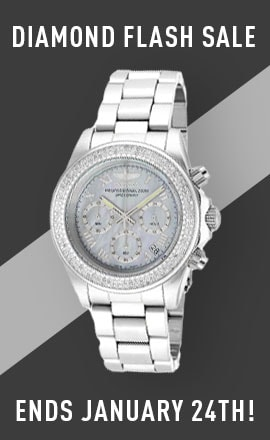 Diamond Flash Sale - Ends January 24th! - 689-276 Invicta 40mm Speedway Quartz Chronograph 0.63ctw Diamond Mother-of-Pearl Dial Bracelet Watch