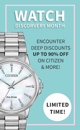 Watch Discovery Month - Encounter Deep Discounts Up To 90% Off On Citizen & More! - 688-780 Citizen Women's Chandler Eco-Drive Stainless Steel Bracelet Watch Made w Swarovski Crystals