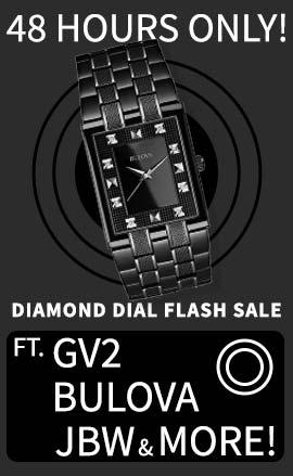 48 Hours Only! Diamond Dial Flash Sale - Ft. GV2, Bulova, JBW & More! - 686-258 Bulova Men's Quartz Diamond Accented Black Ion Plated Stainless Steel Bracelet Watch