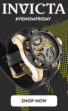 Invicta - #VenomFriday  682-191 Invicta Reserve Men's 52mm Venom Gen III Automatic Double Open Heart Strap Watch
