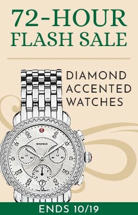 72-Hour Flash Sale - Diamond Accented Watches - Ends 1019